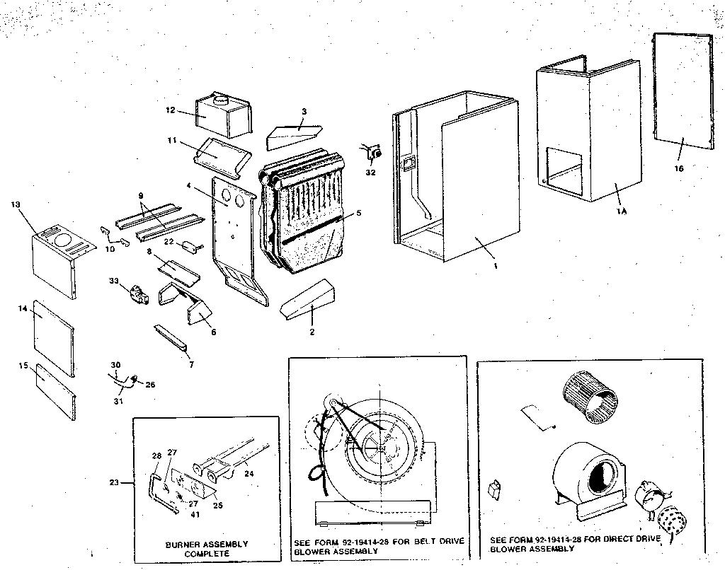 Rheem model RGGA furnace/heater, gas genuine parts