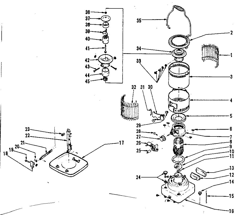 Comfort-Glow model GC19B heater, kerosene genuine parts