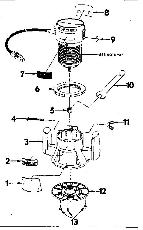 Craftsman model 31517300 router genuine parts
