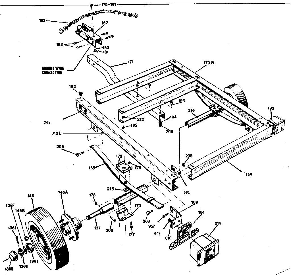 Sears model 300614900 trailer genuine parts