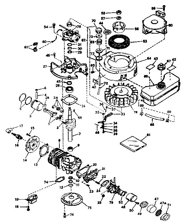 Tecumseh model TYPE 660-24 engine genuine parts