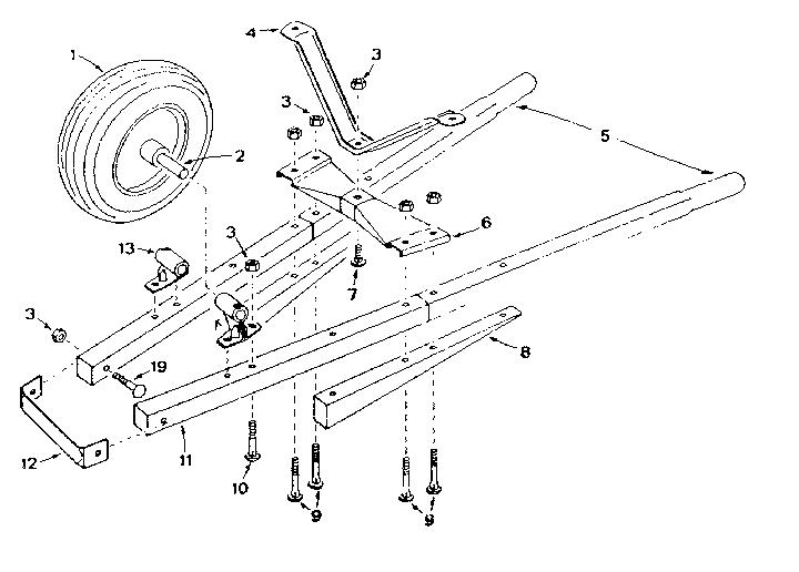 Craftsman model 18987873 wheelbarrow genuine parts