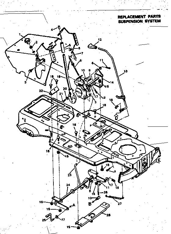 Craftsman model 502254210 lawn, tractor genuine parts