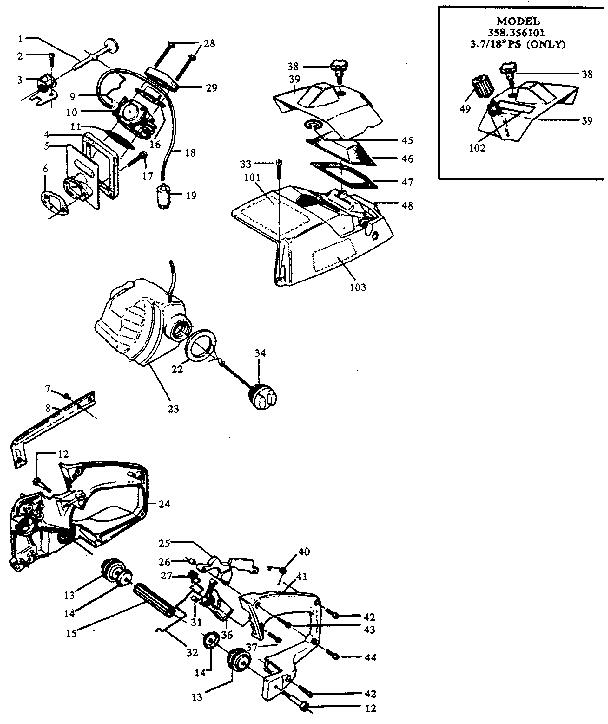 Craftsman Chainsaw Carburetor Diagram, Craftsman, Free