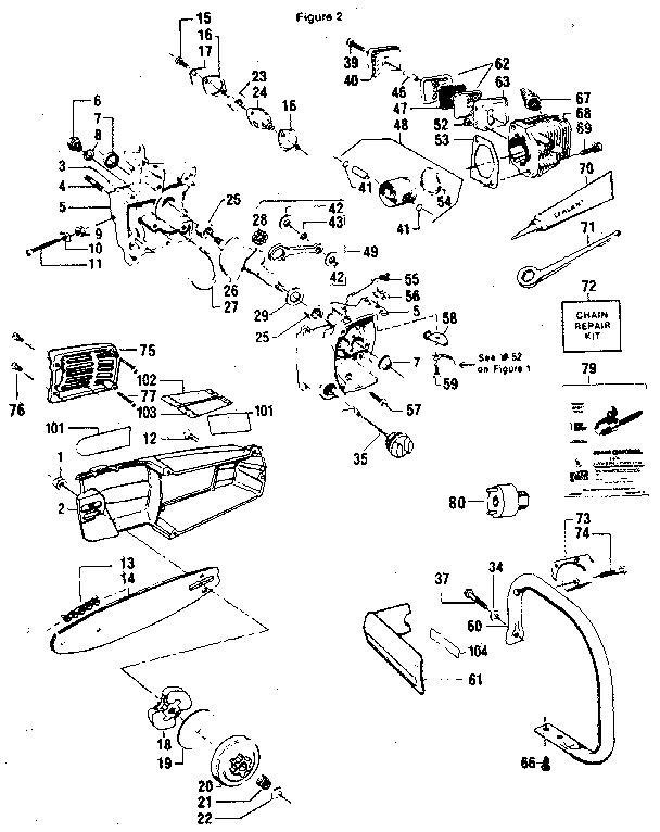 Craftsman model 358355160 chainsaw, gas genuine parts