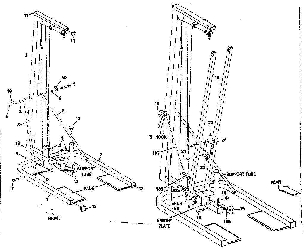 Dp model 15-7000 misc exercise genuine parts