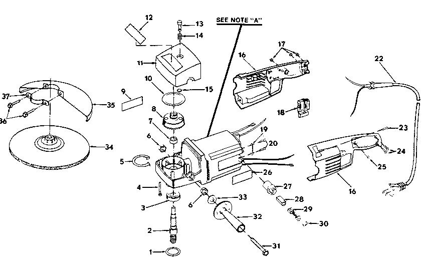 Craftsman model 315115020 grinder genuine parts