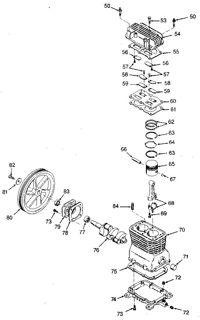 2 Stage Air Compressor Pump Parts 2 Stage Hand Air Pump
