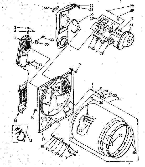 Kenmore model 11086873100 residential dryer genuine parts