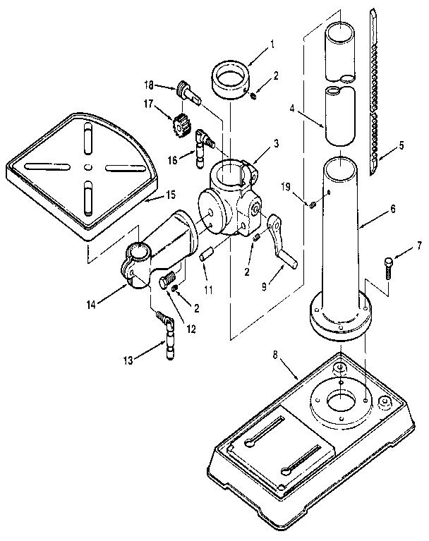 Craftsman model 113213150 drill press genuine parts