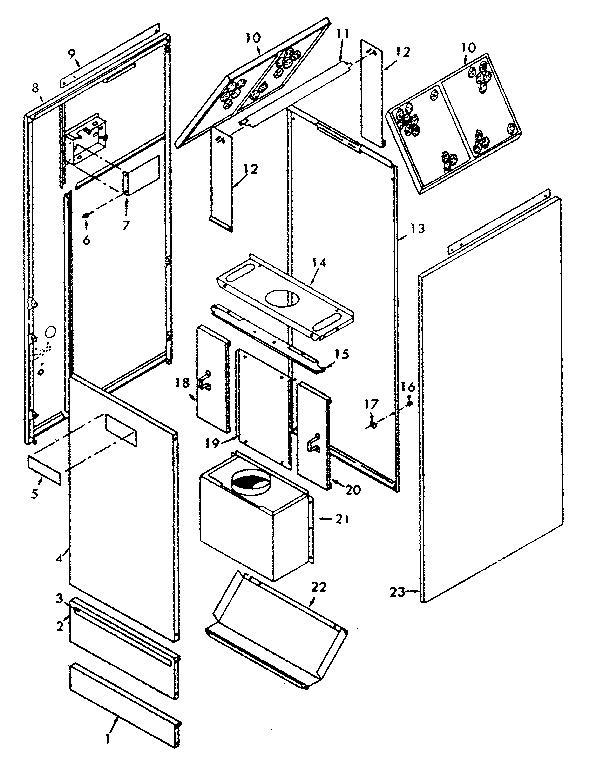 Whirlpool model FXC43-105DR-1 furnace/heater, gas genuine