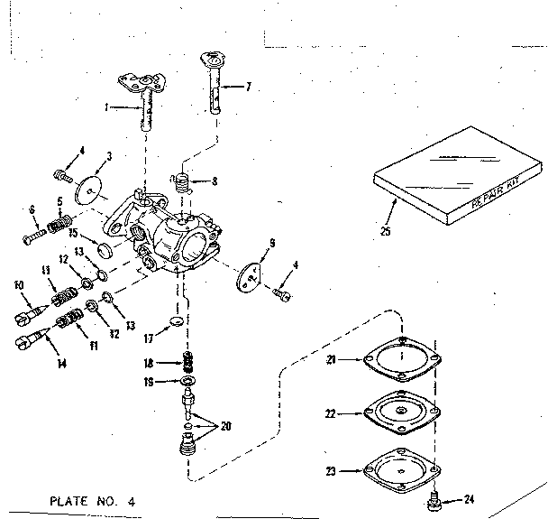 Craftsman model 143104021 engine genuine parts