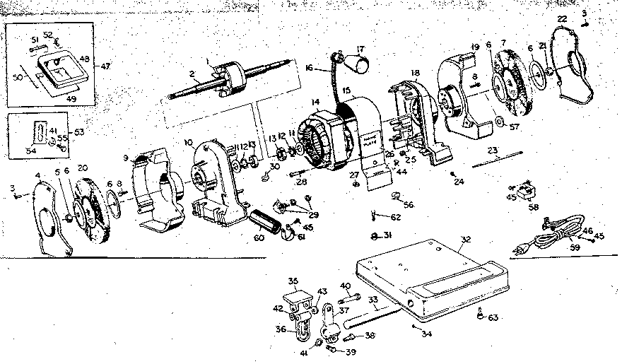 Craftsman model 39719670 grinder genuine parts