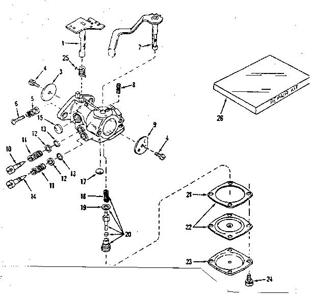 Lauson model H22R-3051T engine genuine parts