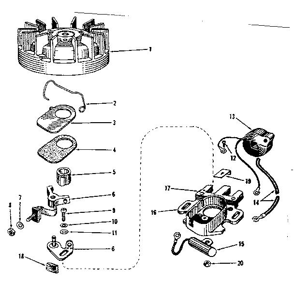 Lauson model V25H-8-324P engine genuine parts