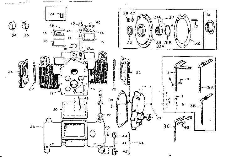 Onan model 6CCK-331E/1887E engine genuine parts