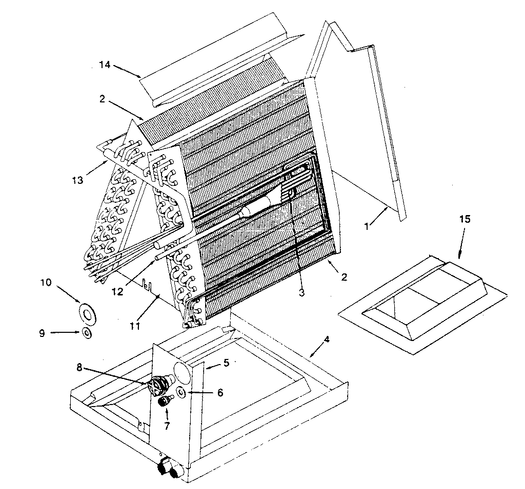 Kenmore model 867812481 evaporator coils genuine parts