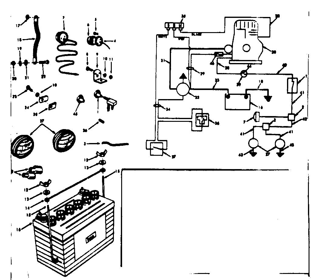Craftsman model 91725041 lawn, tractor genuine parts