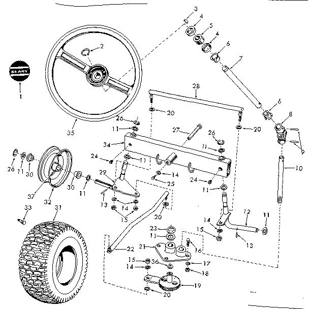 Craftsman model 91725700 lawn, tractor genuine parts