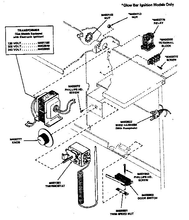 Huebsch model 30CG commercial dryer genuine parts