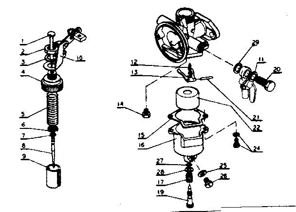 Kioritz model DM-9 duster power genuine parts