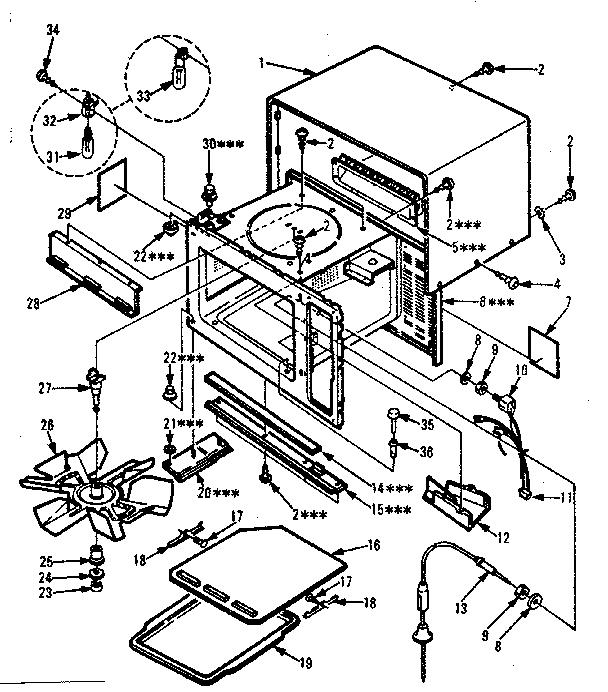 Kenmore model 5658778500 countertop microwave genuine parts