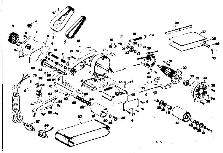 Craftsman model 31522420 sander genuine parts