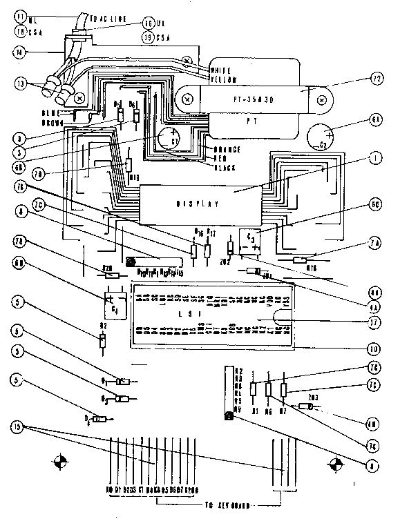 Sears model 71158330 calculator genuine parts