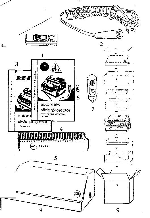 Sears model 8047201570 projector genuine parts