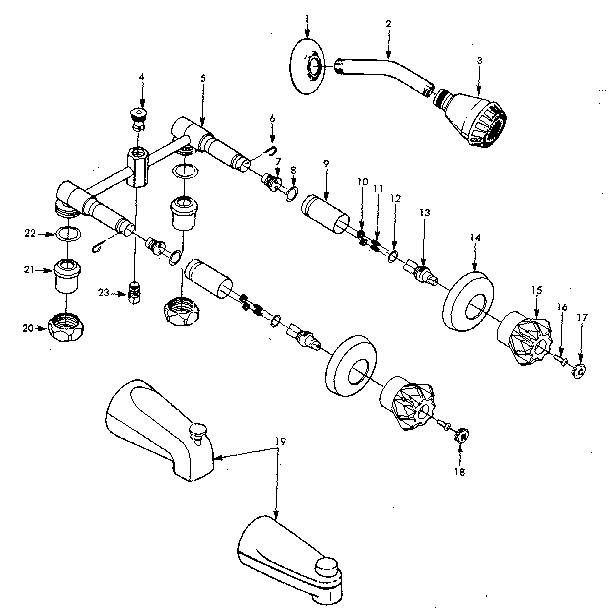 Sears model 609208190 faucet shower genuine parts