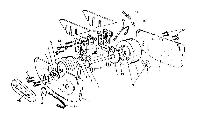 Mcclane model 20-3RP-7 walk behind lawnmower, gas genuine