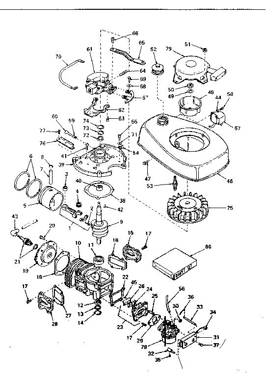 Eska model 1747C boat motor gas genuine parts