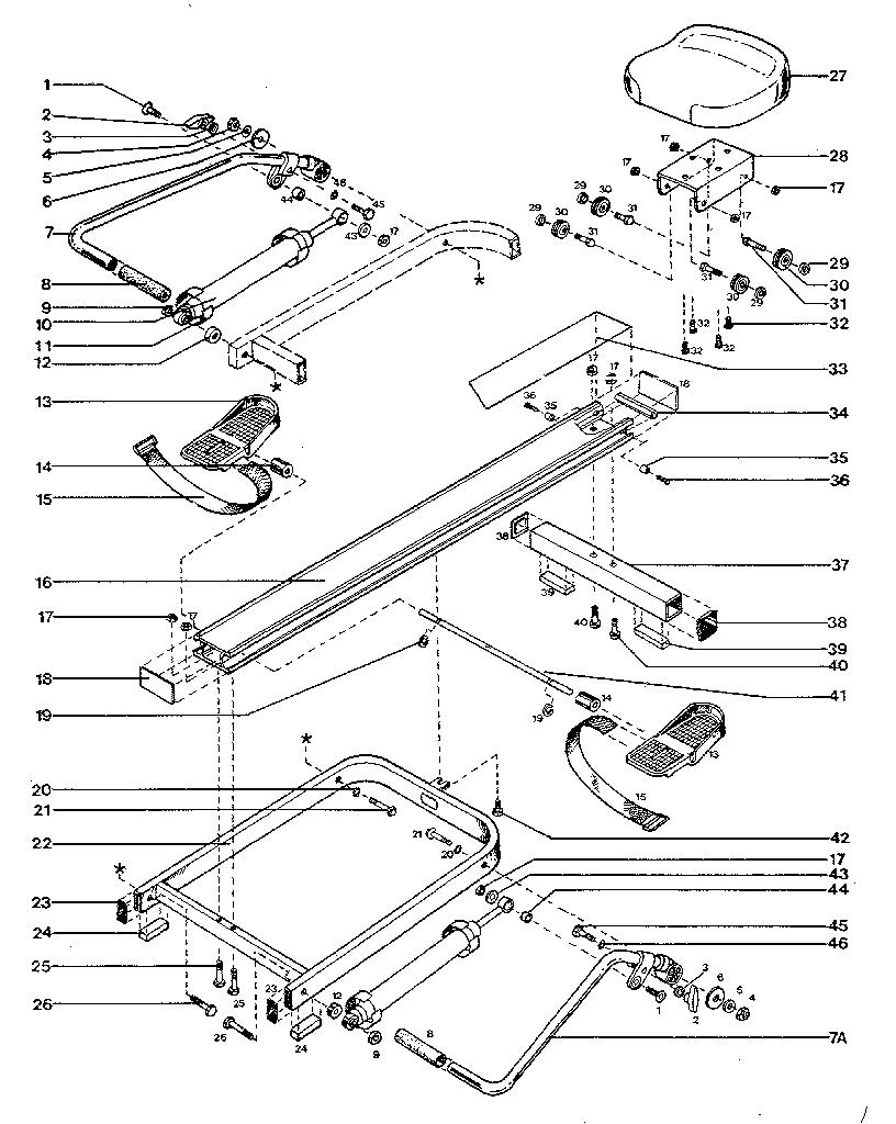 West-Bend model 5100 rower genuine parts