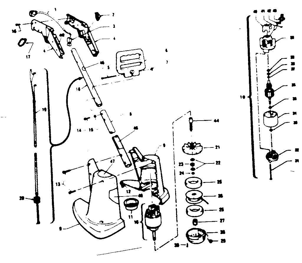 Craftsman model 257799760 line trimmers/weedwackers