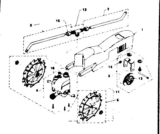 Craftsman model NELSON RAIN TRAIN 1860/1861 lawn sprinkler