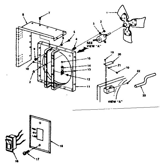 Emerson model VL300-0 whole house fan genuine parts
