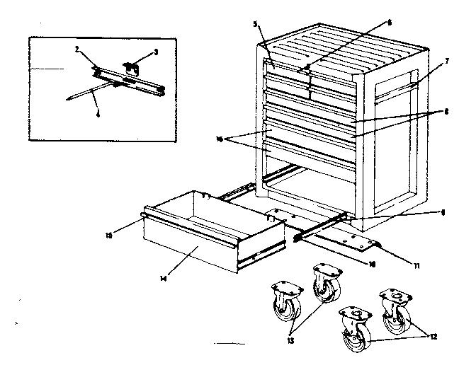 Craftsman model 706650690 cabinet genuine parts