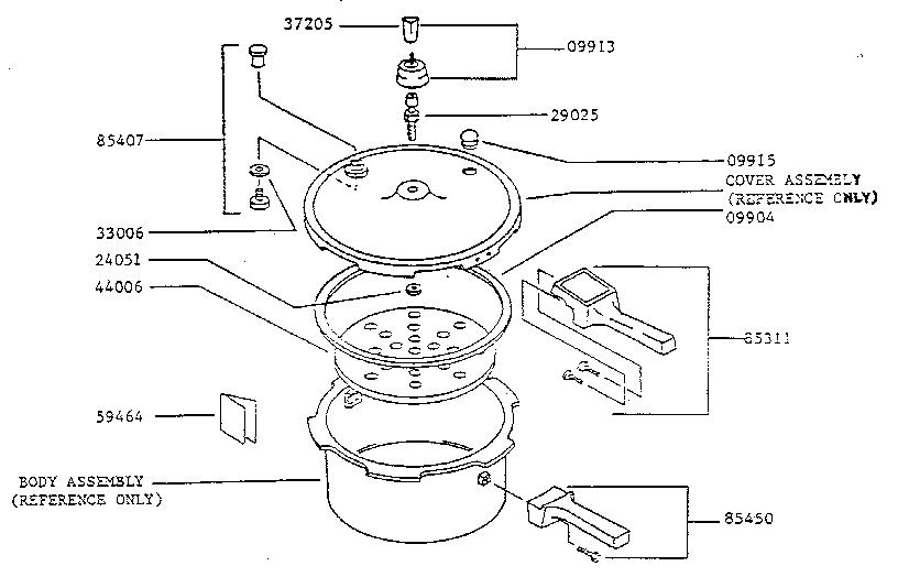 Presto model 0131004 pressure cooker genuine parts