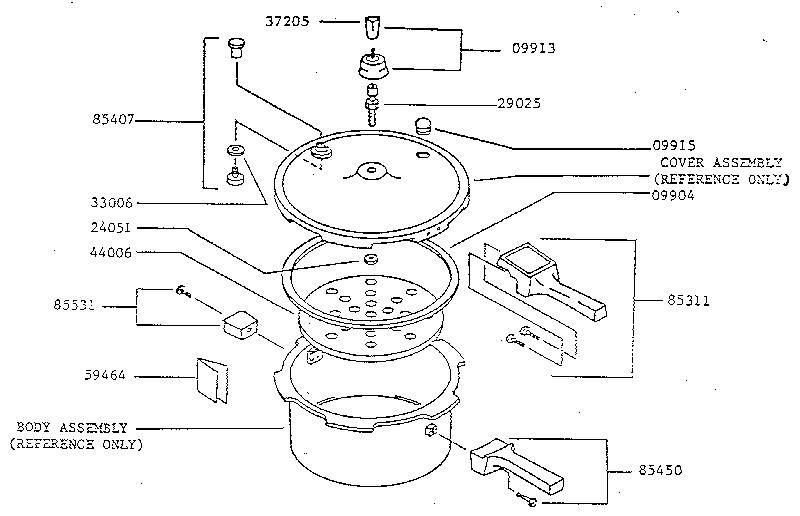 Presto model 0135004 pressure cooker genuine parts
