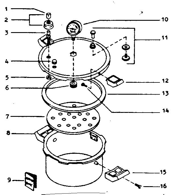 Presto model 0178004 pressure cooker genuine parts