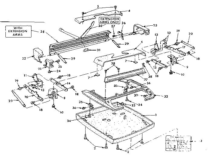Sears model 8718100 typewriter genuine parts