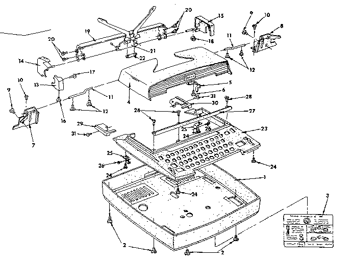 Sears model 8714010 typewriter genuine parts