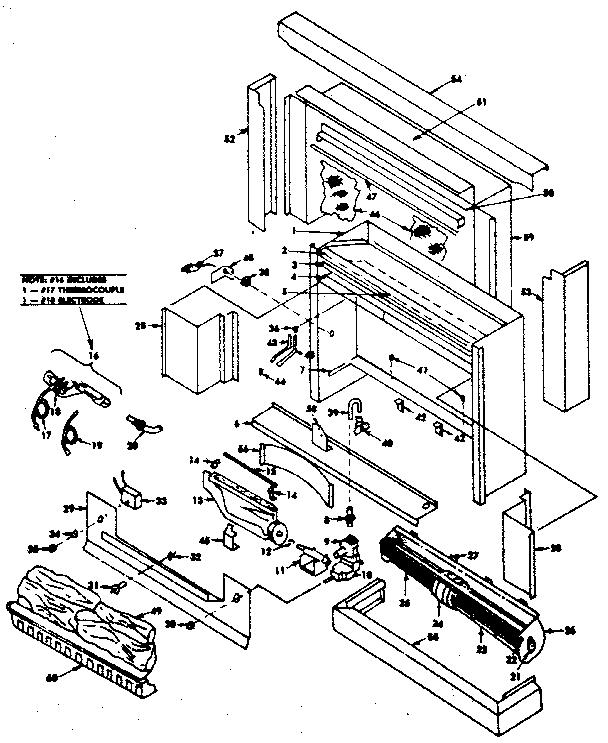 Preway model VFF10 furnace, fireplace genuine parts