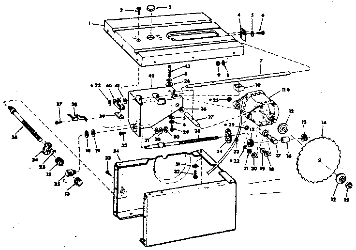 Craftsman model 113226640 table saw genuine parts