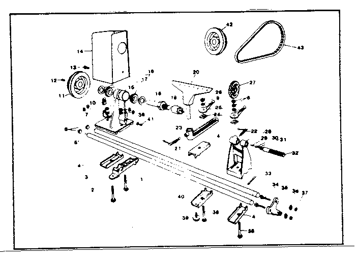 Craftsman model 14923871 lathe genuine parts