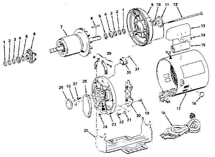 Craftsman model 1131247 motor electric genuine parts