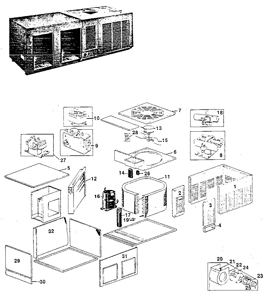 Rheem model PNB air-conditioner/heat pump(outside unit