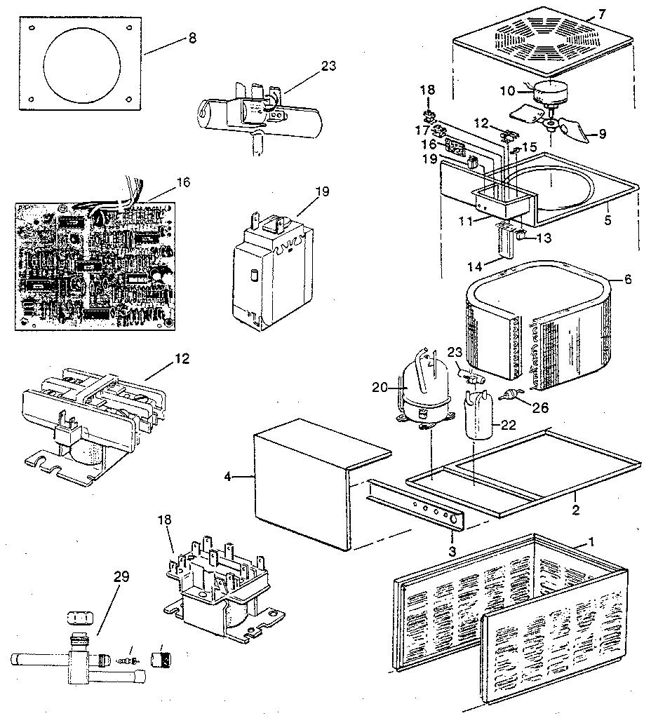 Rheem model PGA air-conditioner/heat pump(outside unit
