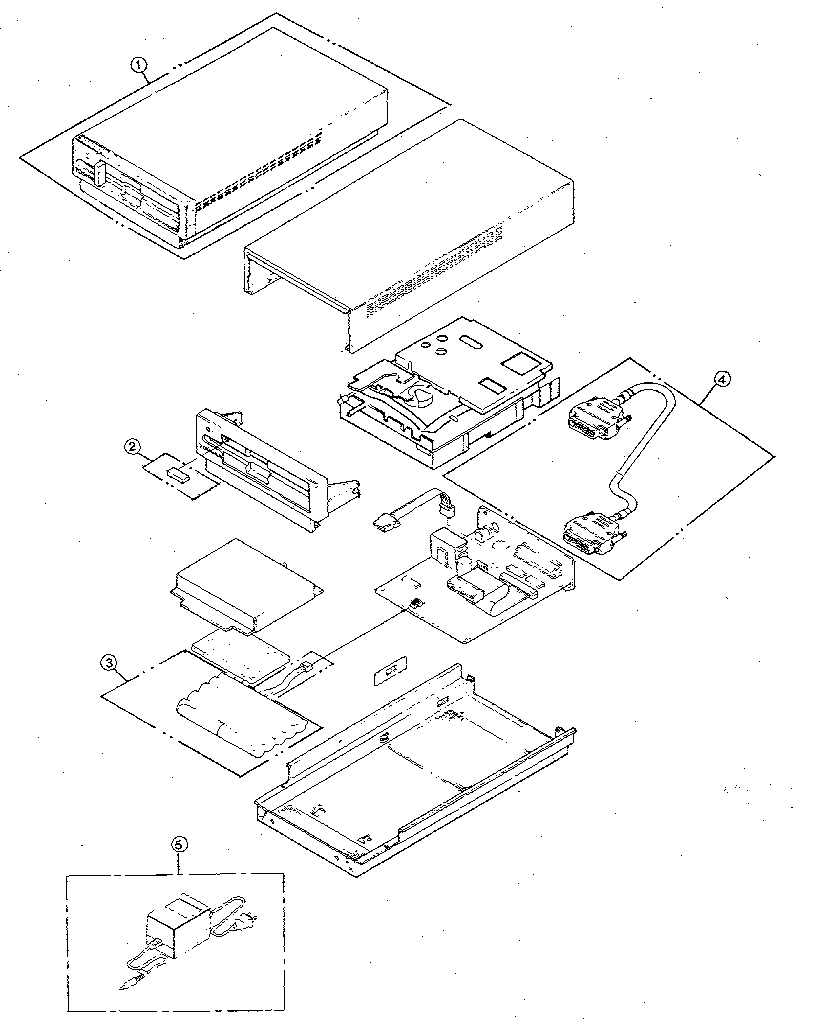 Toshiba model T1000 computer genuine parts