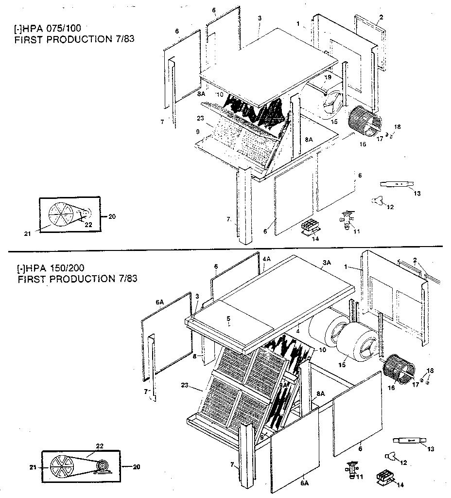 Rheem model HPA 200 air handler (indoor blower&evap